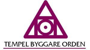 Tempel Byggare Orden Logotype