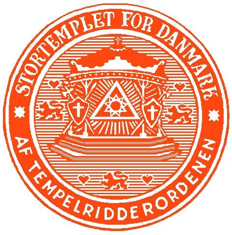 Sigill Stortemplet For Danmark av Tempel Ridder Ordenen