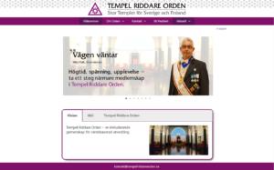 Bild Tempel Riddare Ordens nya hemsida