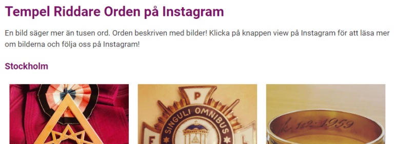 Tempel Riddare Orden på Instagram